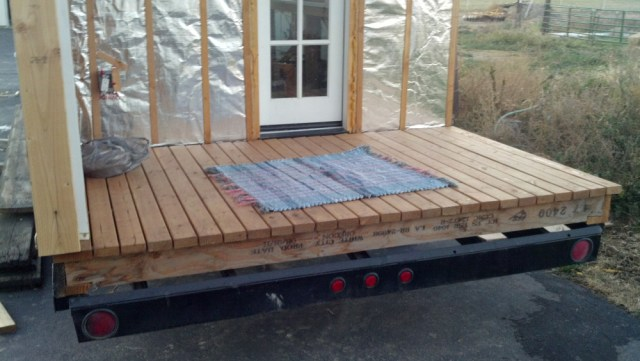 and Unce Bob sent me a home made rug for my tiny house, from one tiny house builder to another! :)
