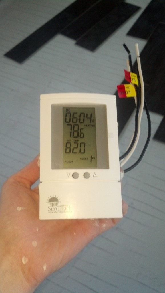 This thermostat in fact!  Isn't it pretty :)  Casey Friday also pointed me in the direction of a much cooler thermostat that was reatured on Life Hacker today.  Min will be hidden away in a closed so the cool factor isn't quite as important, this one is independently programmable and should work great really.  Ms. Jessica Gilmore, I got your email, I will respond ASAP (it has been a long day today!) Thank you for the questions, I think I will do a blog post on what you asked and I am so excited to hear more about your adventures!