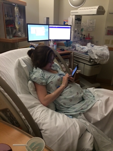 I even send my friend Becca an email during labor to let her know it wasn't SO scary (she's due very soon!  Good vibes her way!)