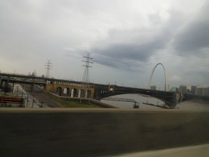 the weather was crappy the whole way there so we just did a drive by on the sites, it was much better on the way back!