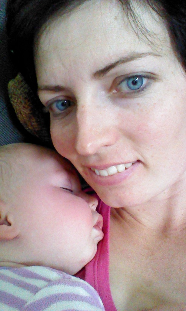 My snuggle moment, I just had to get it, baby snuggles are fantastic.