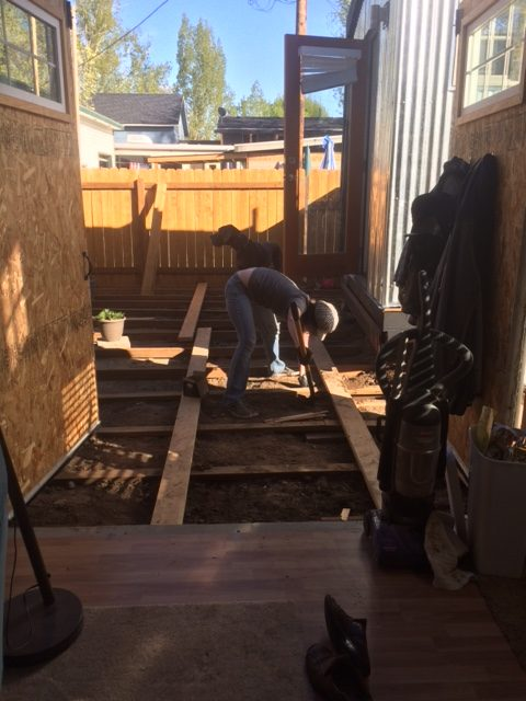 We're building a deck, I havent shown pictures because youd never guess two architects are doing it, it looks done by two people who have no idea what they are doing... but we do... were just... unconventional... :)