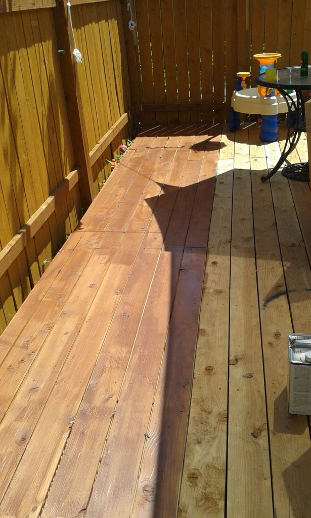 We even started staining it!