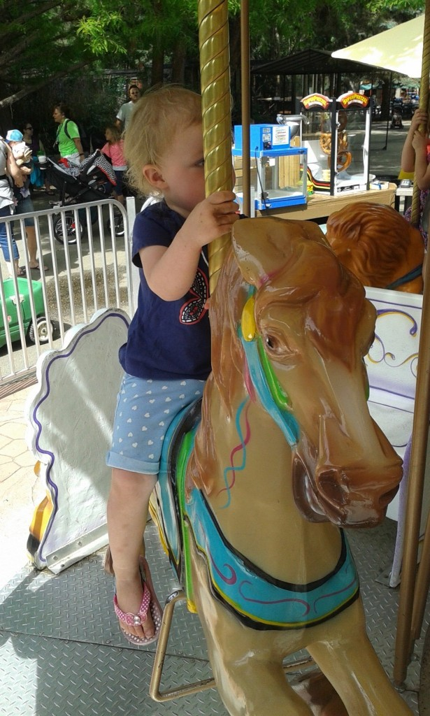 We got to ride the merry go round!
