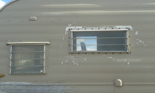 and the window flashing seems to have flown off, probably on the way home, James and I both remember it being there....