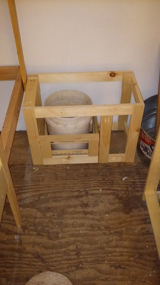 Stool in (will just look like two drawers)