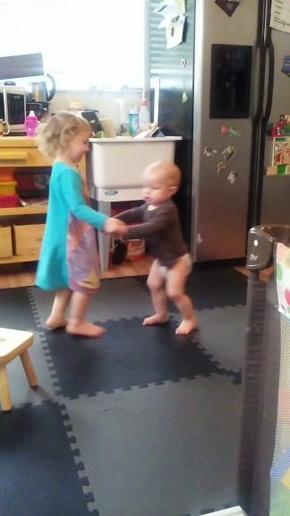 these two love dance parties, they dance together.  Often.  It's so cute!