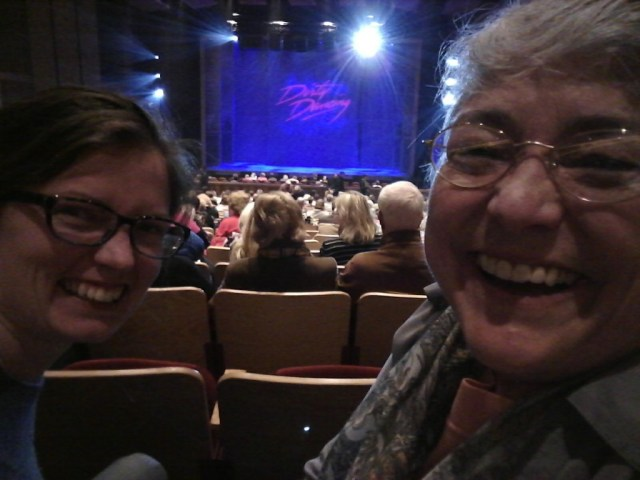 in other family news, I got to go see Dirty Dancing with my mom, we had a blast!