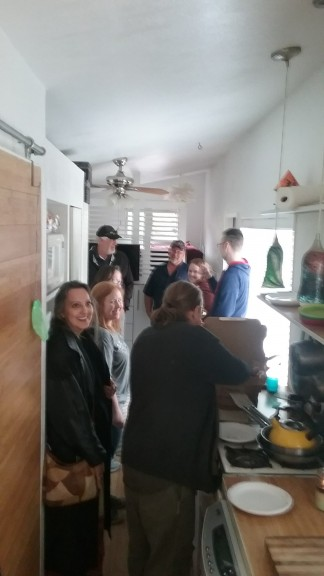 We also had our last open house at the tiny house... I have yet to take a picture of people but it happens