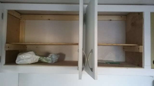 some shelves for canned goods.