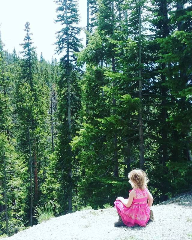 Awe inspiring views, even for a 3 year old!
