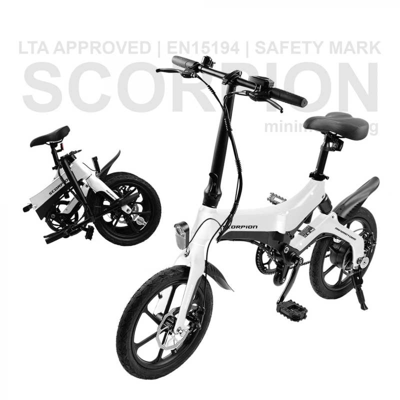 Scorpion Electric Bicycle LTA Approved (White)