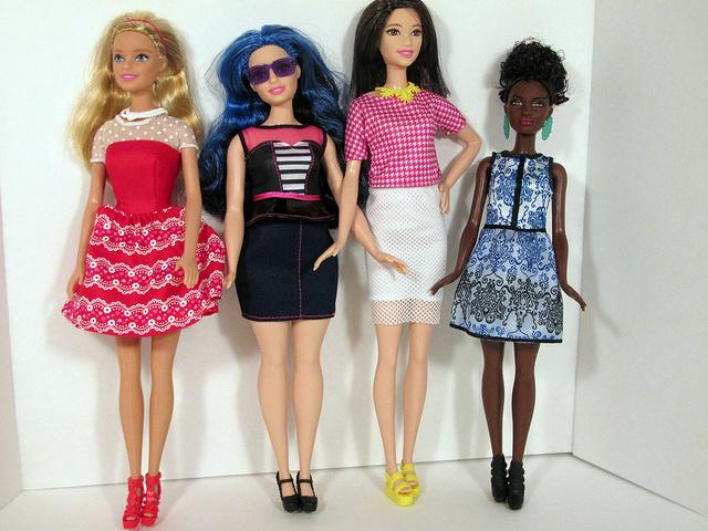 My four dolls: original, curvy, tall, petite