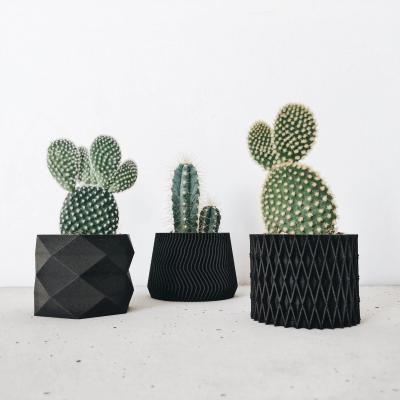 Black indoor planter