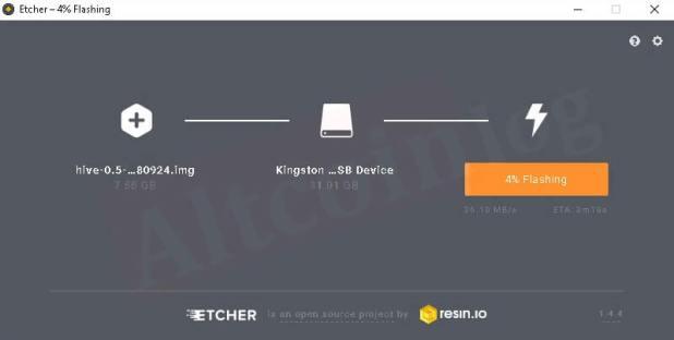 Создание образа Hive OS в ОС Windows