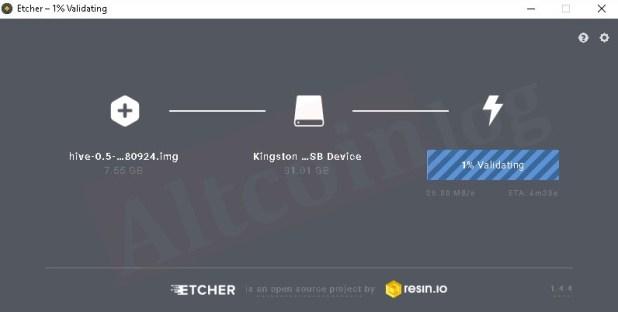 Валидация образа Hive OS