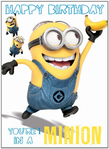 Official Despicable Me 2 Minions Birthday Card You Re 1 In A Minion Minions Fanartikel Center