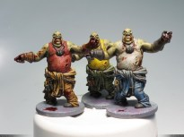 Boomers! ... ah, no: Fatties! These were the easiest to paint: large, single color areas, few details...