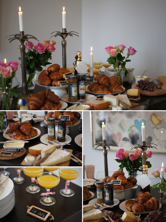 A French Bridal Shower Breakfast by Mini Piccolini
