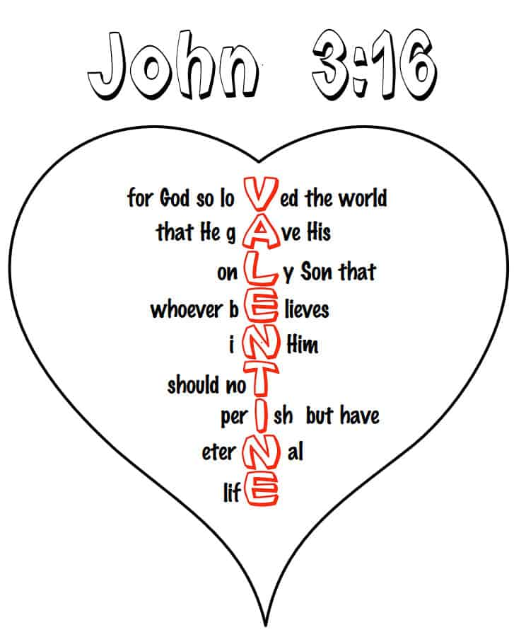 - John 3:16 Heart Coloring Pages (free Kids Printable)