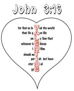 "Printable ""John 3:16"" Valentine Day Heart Craft"