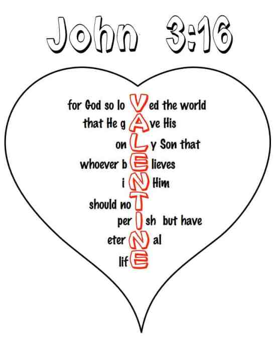 Heart Crafts for Sunday School (John 3:16 Printable)