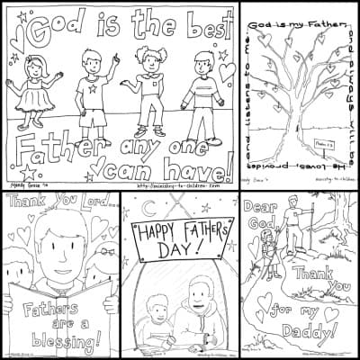 Christian Father's Day Coloring Pages PDF print