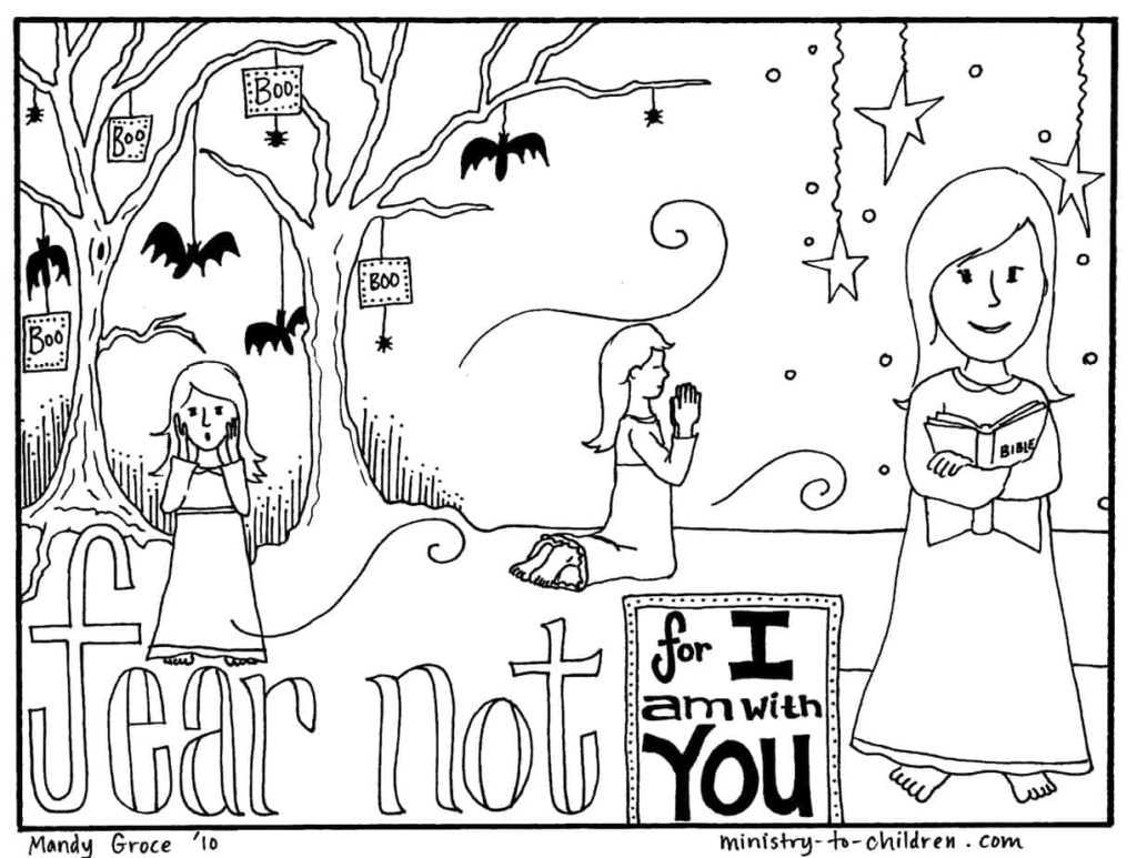 Halloween Coloring Pages Religious Christian Do Not Fear