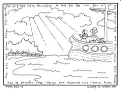 Click here to download this Pilgrims coloring page