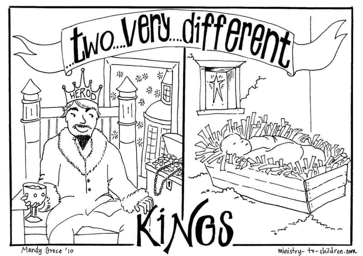 Baby Jesus Amp King Herod Matthew 2 1 12 Coloring Page