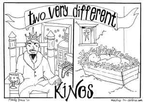 King Herod and Baby Jesus Coloring Page