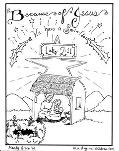 Nativity Coloring Pages: Jesus is Here — Ministry-To-Children.com