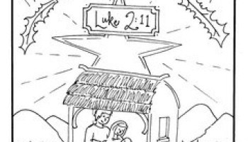 nativity coloring pages jesus is here