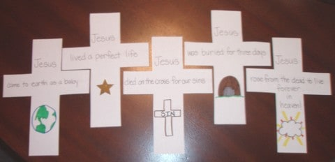 Easter Sunday Lesson Amp Cross Shape Book Craft