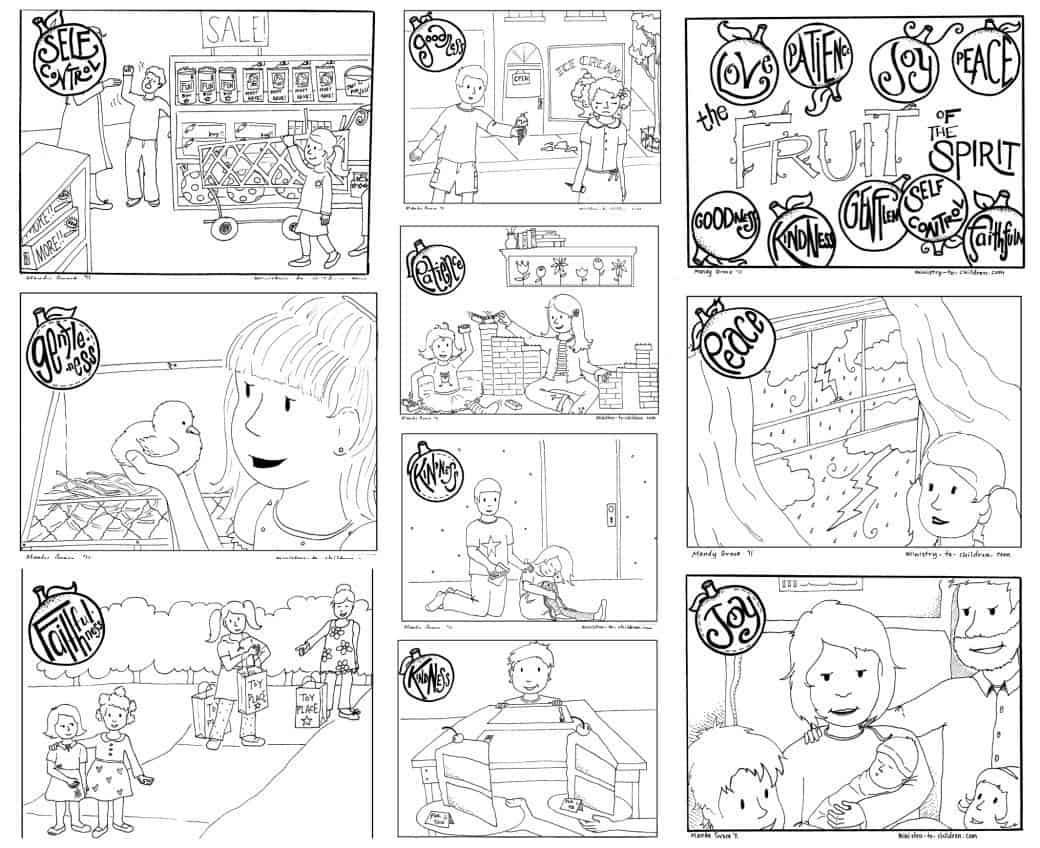 Fruit of the Spirit Coloring Pages — Ministry-To-Children.com