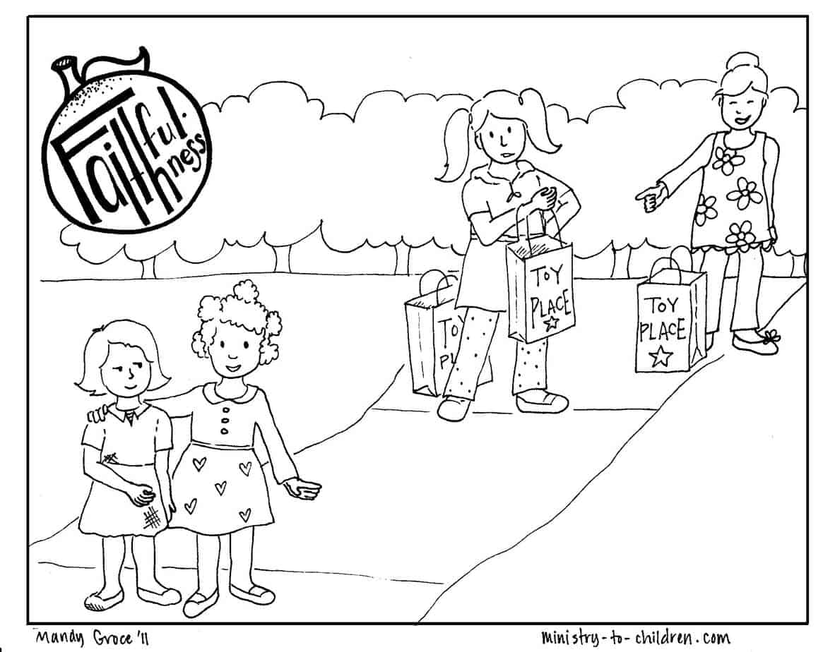 Faithfulness Coloring Page Free Printable For Kids