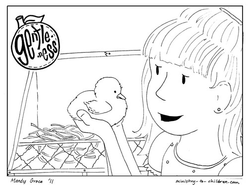 Gentleness coloring page