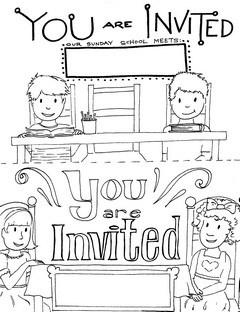 Printable Sunday School Invitations Templates