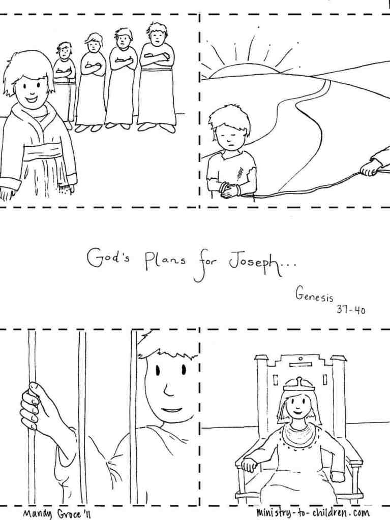 Christian Coloring Pages - Bible Story