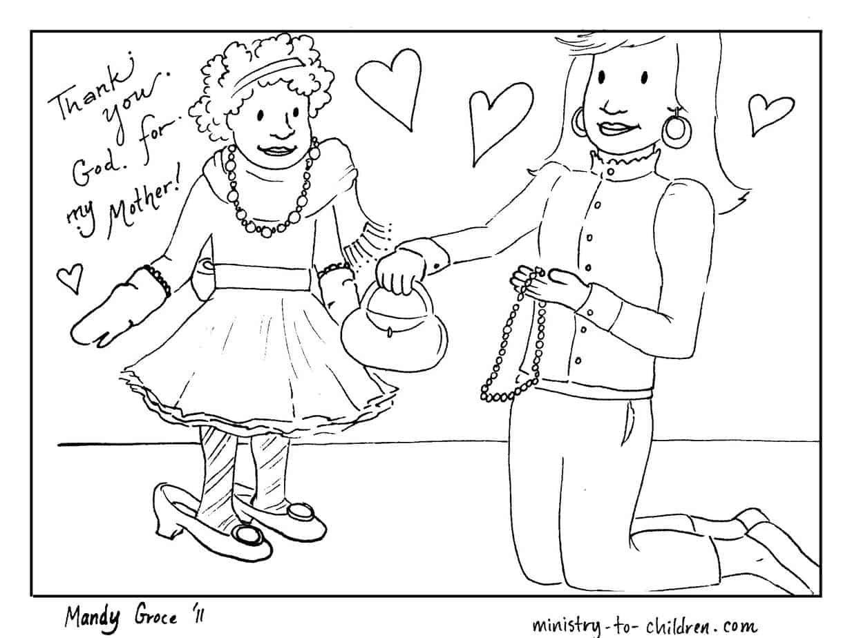Mother S Day Coloring Sheets