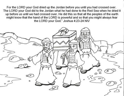 Crossing the Jordan River.
