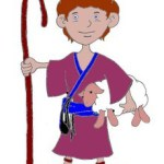 David the shepherd boy coloring page