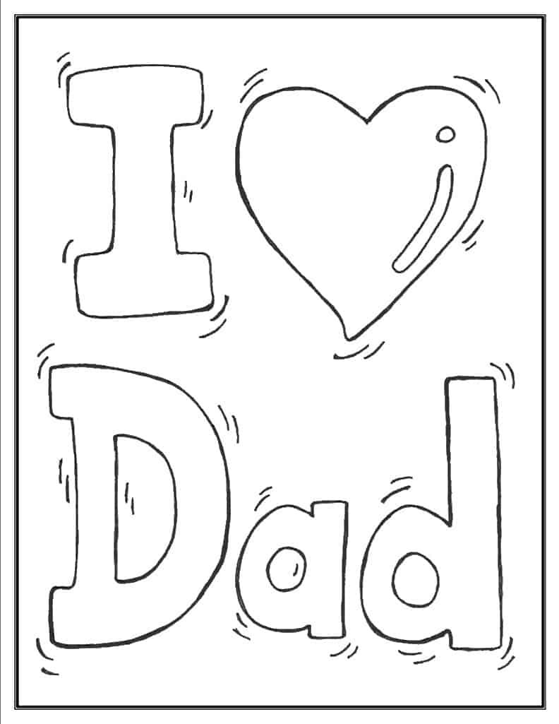 Father's Day Coloring Pages (100% Free) Easy Print PDF | 1025x792