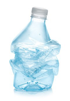 crushed plastic water Bottle