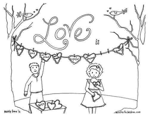 1 Corinthians 13 Love Coloring Page