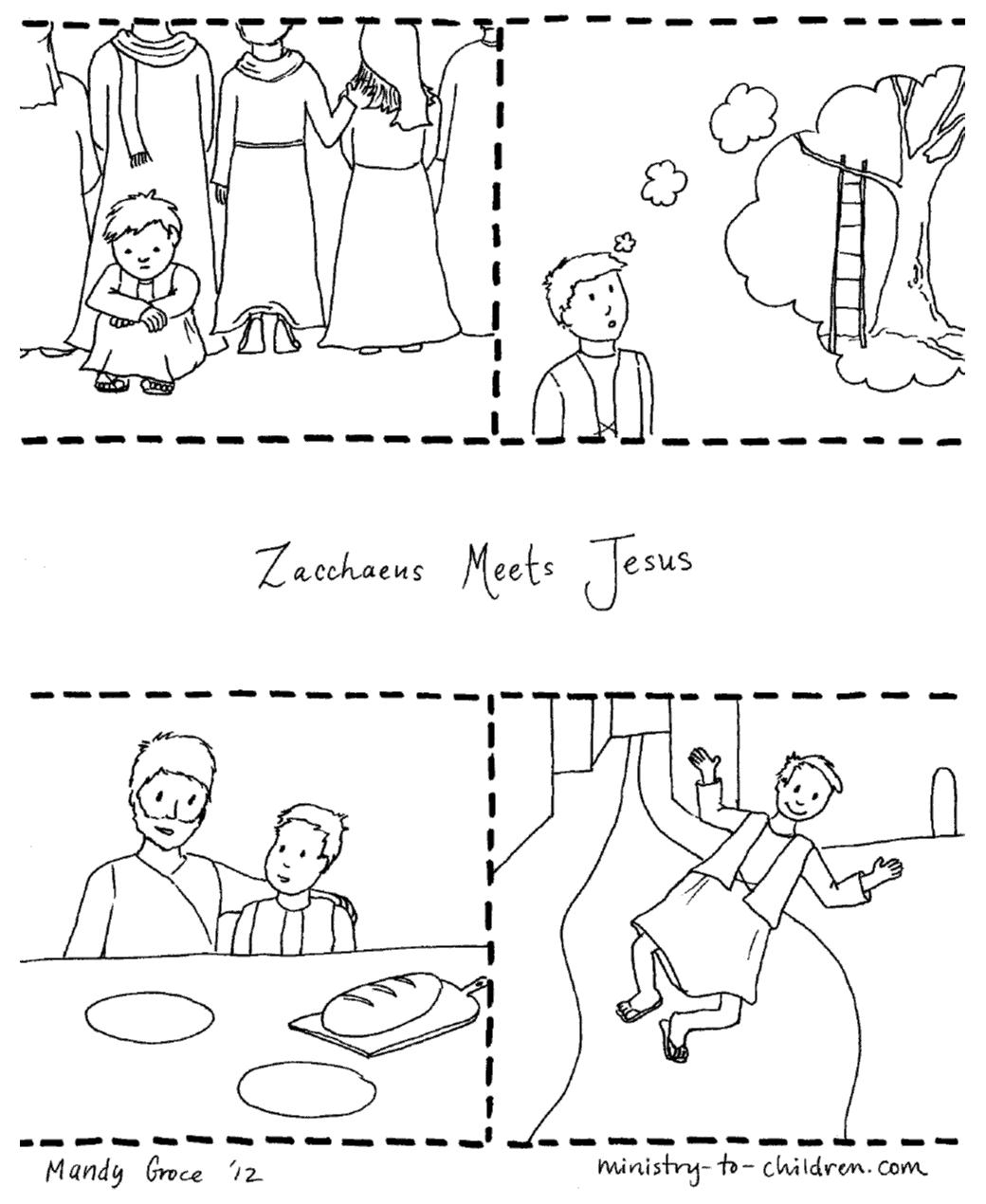 Zacchaeus Crafts for Sunday School (Luke 19:1-10) Craft