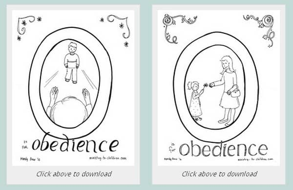 obedience coloring pages