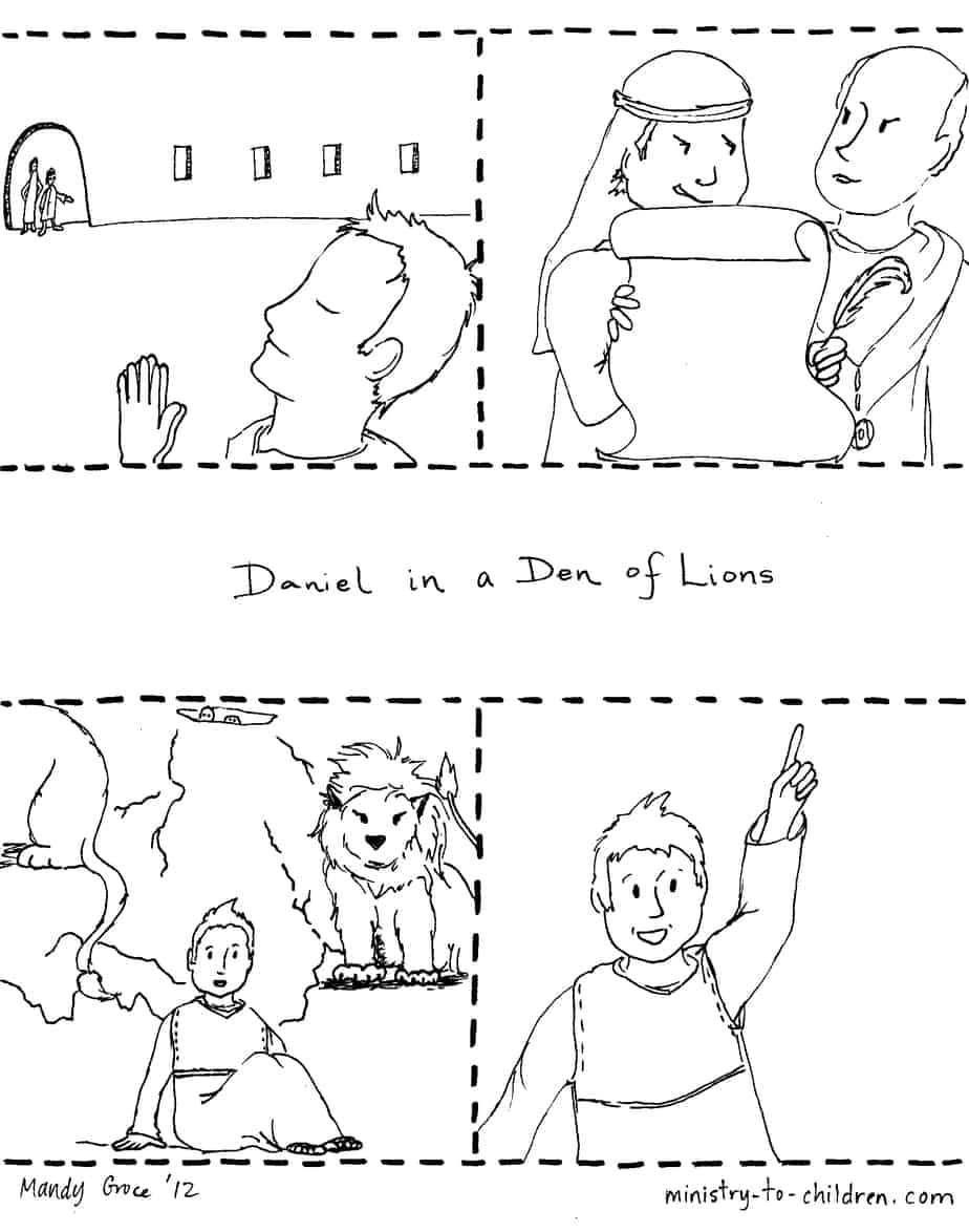 Daniel & the Lions Den (100% Free) Kids Story, Lesson