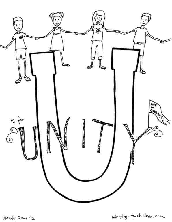 unity coloring page