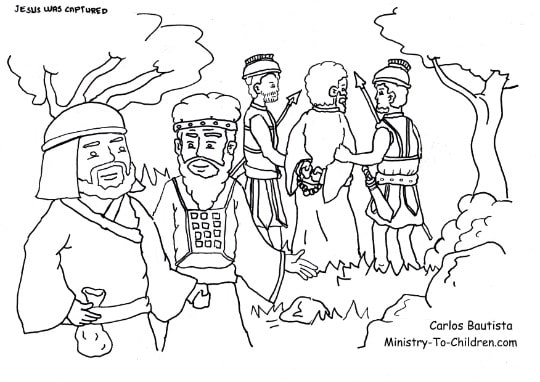 Judas Betrays Jesus Coloring Page Ministry To Children